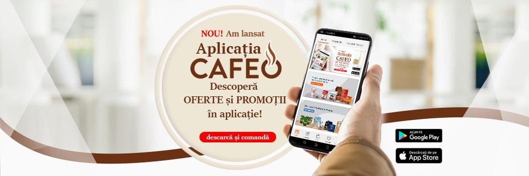 Aplicatia de mobil Cafeo Mai 2021