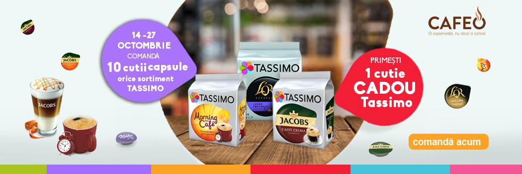 Promo Capsule Tassimo 10 cutii + 1 Cadou Octombrie 2019