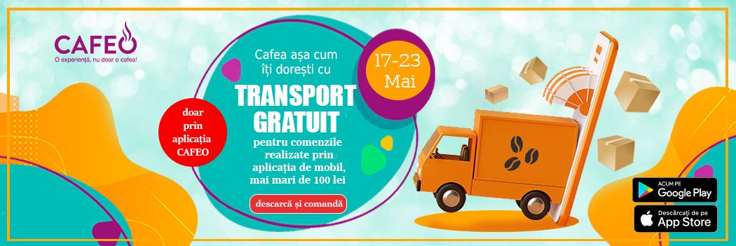 Transport Gratuit 17-23 Mai 2021 prin Aplicatia Cafeo
