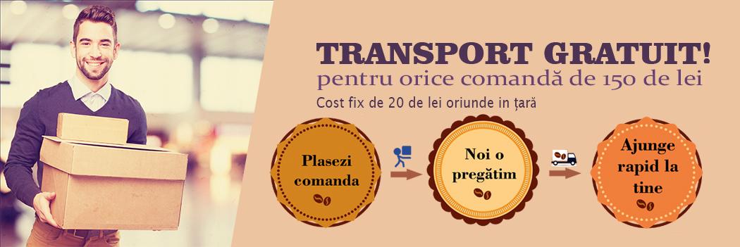 Transport gratuit la comenzi peste 150 lei