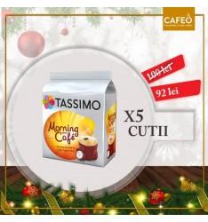 Set 5 x Capsule cafea, Jacobs Tassimo Morning Cafe, 80 bauturi x 215 ml, 80 capsule