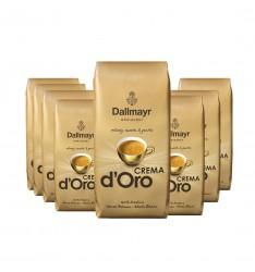 Pachet 8 x Dallmayr Crema D'oro cafea boabe la kg