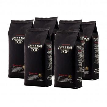 Pachet 6 x Pellini Top 100% Arabica cafea boabe 1kg