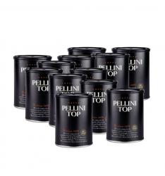 Pachet 12 x Pellini Top 100% Arabica cafea macinata 250g cutie metalica