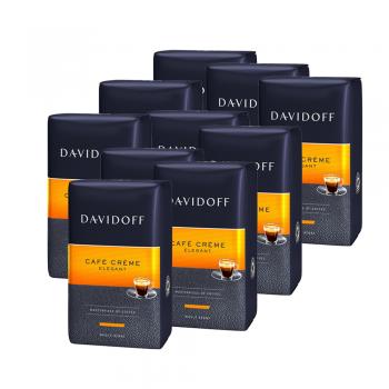 Pachet 10 x Davidoff Cafe Creme Elegant cafea boabe 500g