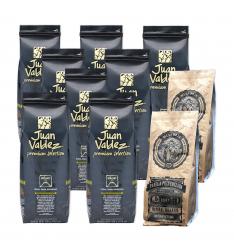 Pachet:8 Juan Valdez-Volcan cafea boabe 500g+2 pachete Panela ECO -Extract trestie de zahar 500 g