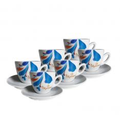Set cesti+farfurii Morra Cappuccino ceramica -220 ml