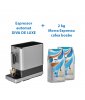 PACHET PROMO Espressor automat cu rasnita incorporata DIVA DE LUXE + 2 Morra Espresso cafea boabe 1kg