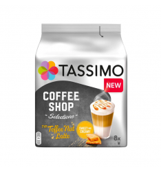 Capsule cafea Tassimo Coffee Shop Coffee Nut Latte, 16 capsule, 8 bauturi, 268g