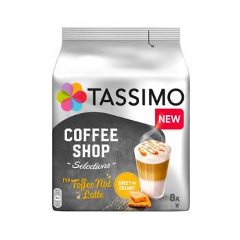 Capsule cafea Tassimo Coffee Shop Coffee Nut Latte, 16 capsule, 8 bauturi, 268g