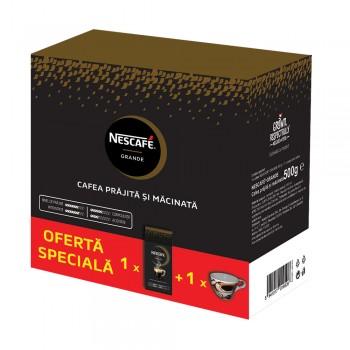 Nescafe Grande cafea macinata 500g +Cana Cadou