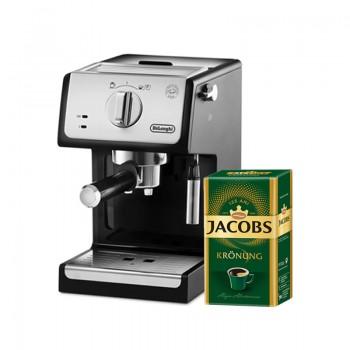 PACHET PROMO: 1Espressor manual De'Longhi ECP33.21+CADOU 1 pachet 500g, cafea macinata , Jacobs Kronung Alintaroma