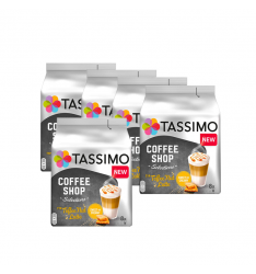 Pachet 5 x Cutii Capsule cafea Tassimo Coffee Shop Toffee Nut Latte, 16 capsule, 8 bauturi, 268g