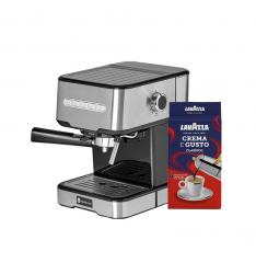 PACHET PROMO - 1 Espressor cu pompa Studio Casa Espresso MIO SC 2001+ CADOU 1 pachet cafea macinata 250g,, Lavazza Crema e Gusto