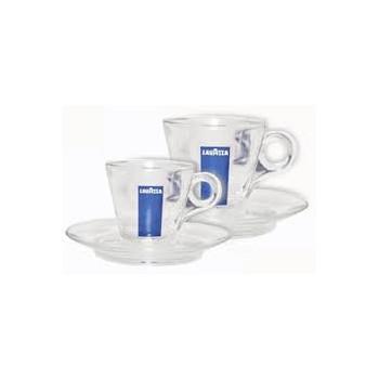 Lavazza cesti cappuccino sticla cu farfurii 6 buc